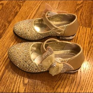 Golden Flower Girl shoes